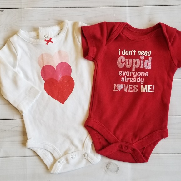 d6a84c461 Carter's Shirts & Tops | Baby Girl Valentines Day Top Bundle Nb ...